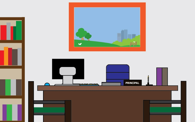 Principal Office In School Clipart.