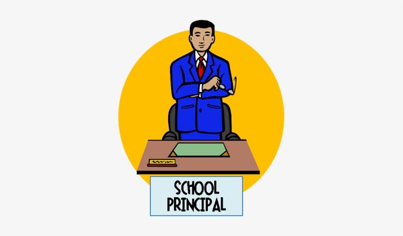 Office Clipart Female School Principal.