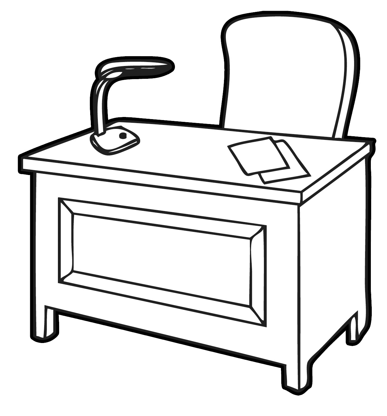 Free Student Desk Clipart Black And White, Download Free.