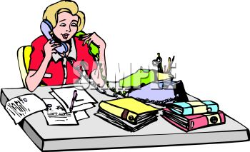 Female School Principal Clipart.