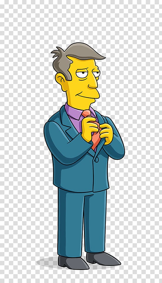 The Simpsons character illustration, Principal Skinner Gary.
