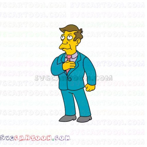 Principal Skinner The Simpsons svg dxf eps pdf png.