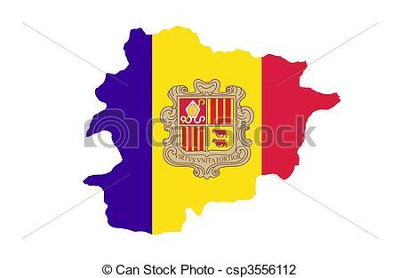 Clip Art of Principality of Andorra csp3556112.