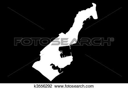 Clip Art of Principality of Monaco k3556292.