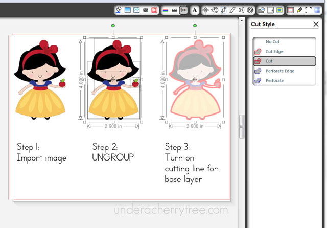 print and cut clipart on sihouette #17