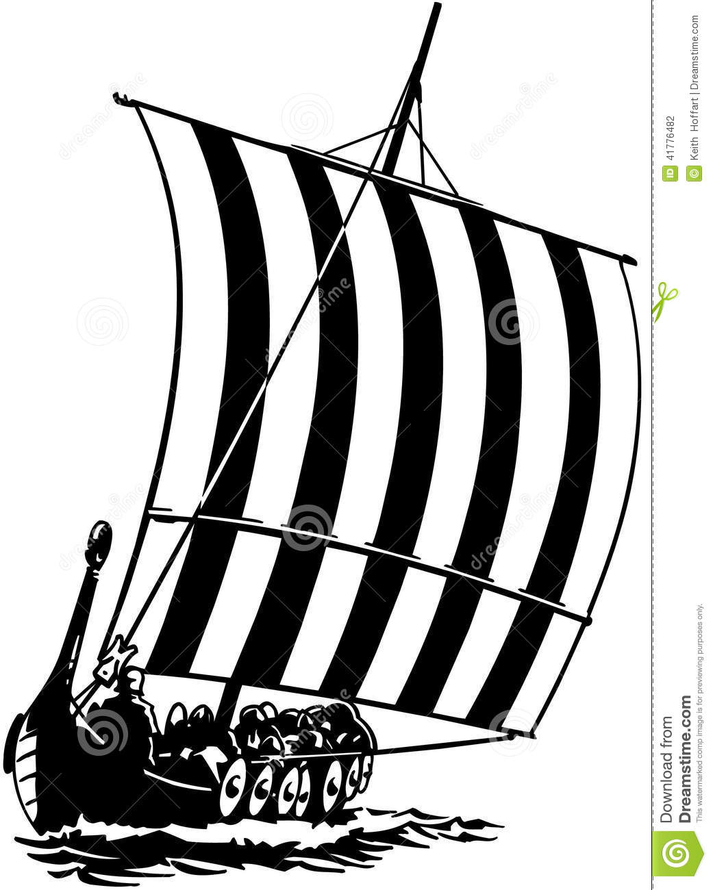 Sail Ship Boat Cartoon Vector Clipart Stock Vector.