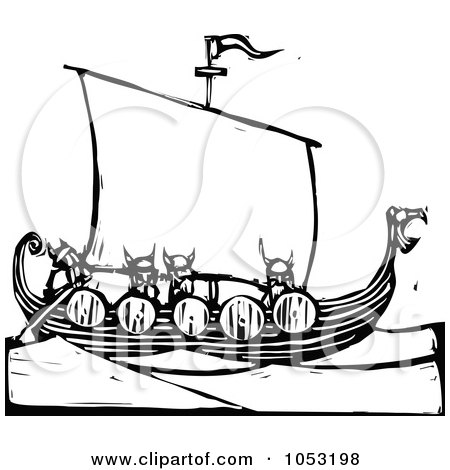 Viking Dragon Ship With Oars Posters, Art Prints by Dennis Cox.
