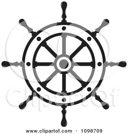 Outlined Ship Helm Wheel Posters, Art Prints by Lal Perera.