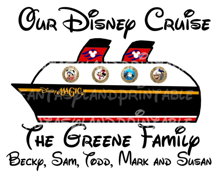Disney Cruise door decorations free printables.