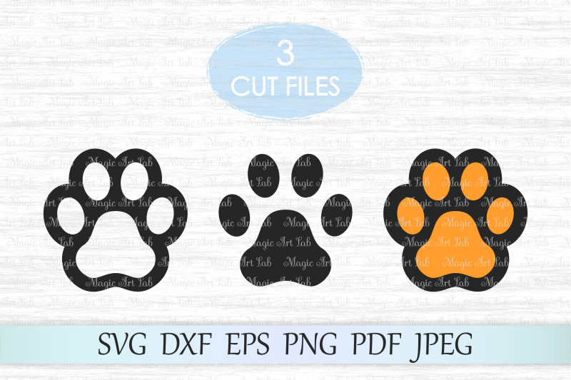 Paw print cut file, Dog paw svg, Paw print clipart By.