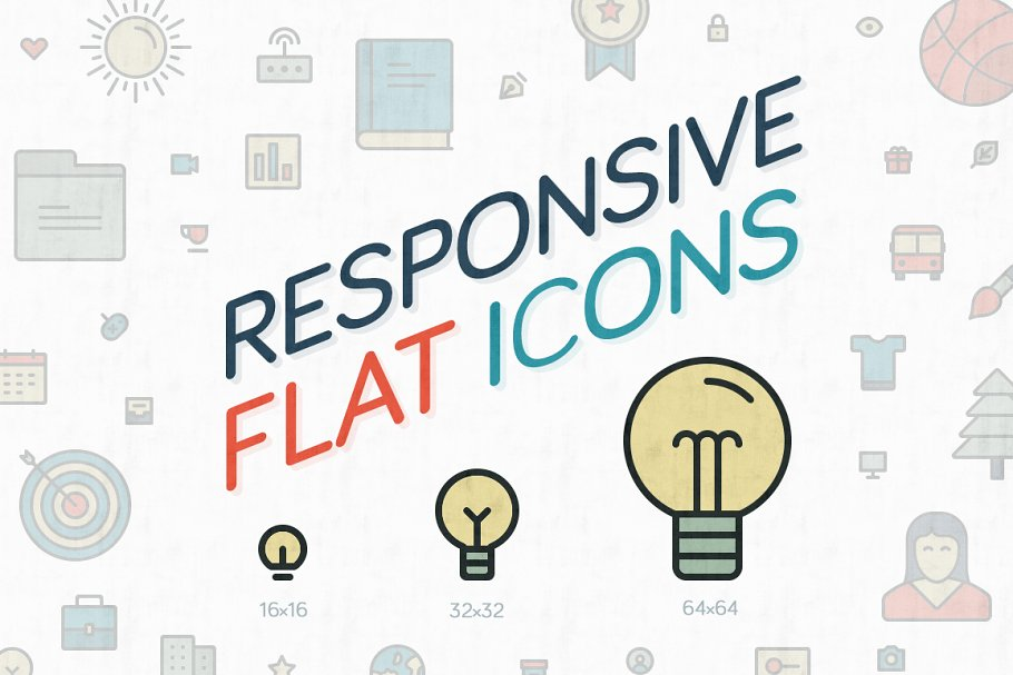 Responsive Flat Icons ~ Icons ~ Creative Market.