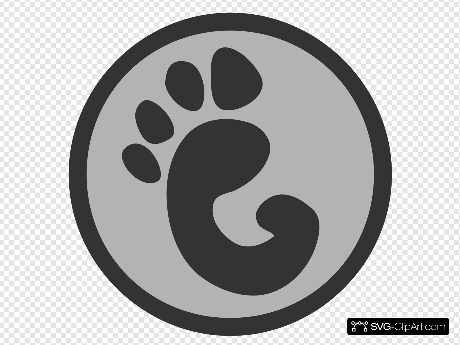 Paw Print Logo Clip art, Icon and SVG.