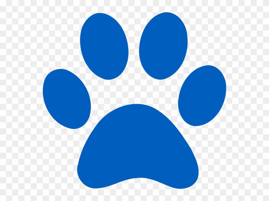 Blue Paw Print Logo Clipart (#3443322).