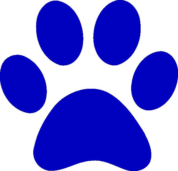 Blue Paw Print Logo.