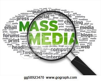 Mass media clip art.