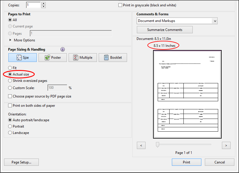 Adjusting your Check Print Settings.