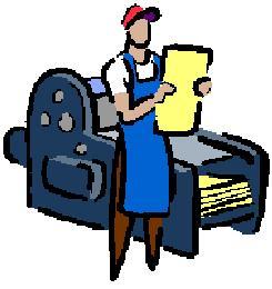 Print shop clipart.