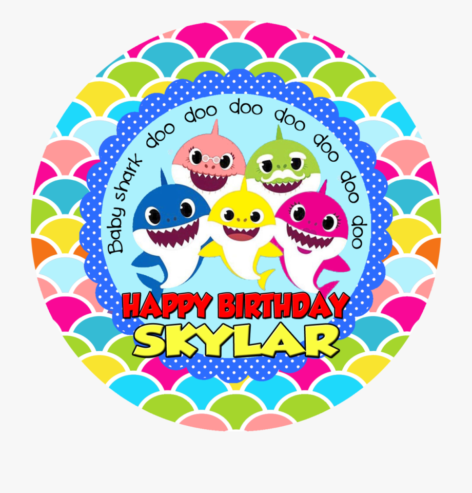 Baby Shark Clipart Happy Birthday , Transparent Cartoon.