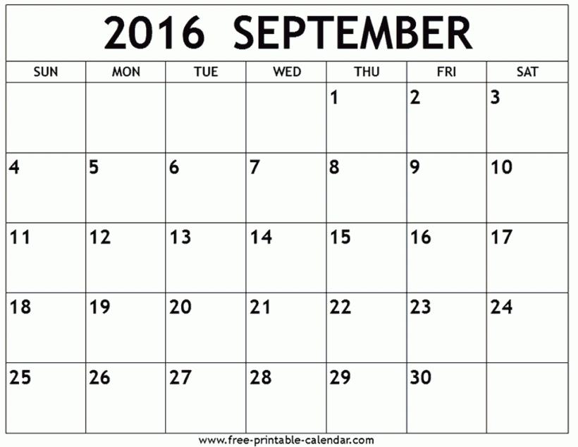 september 2016 calendar free printable calendar throughout.