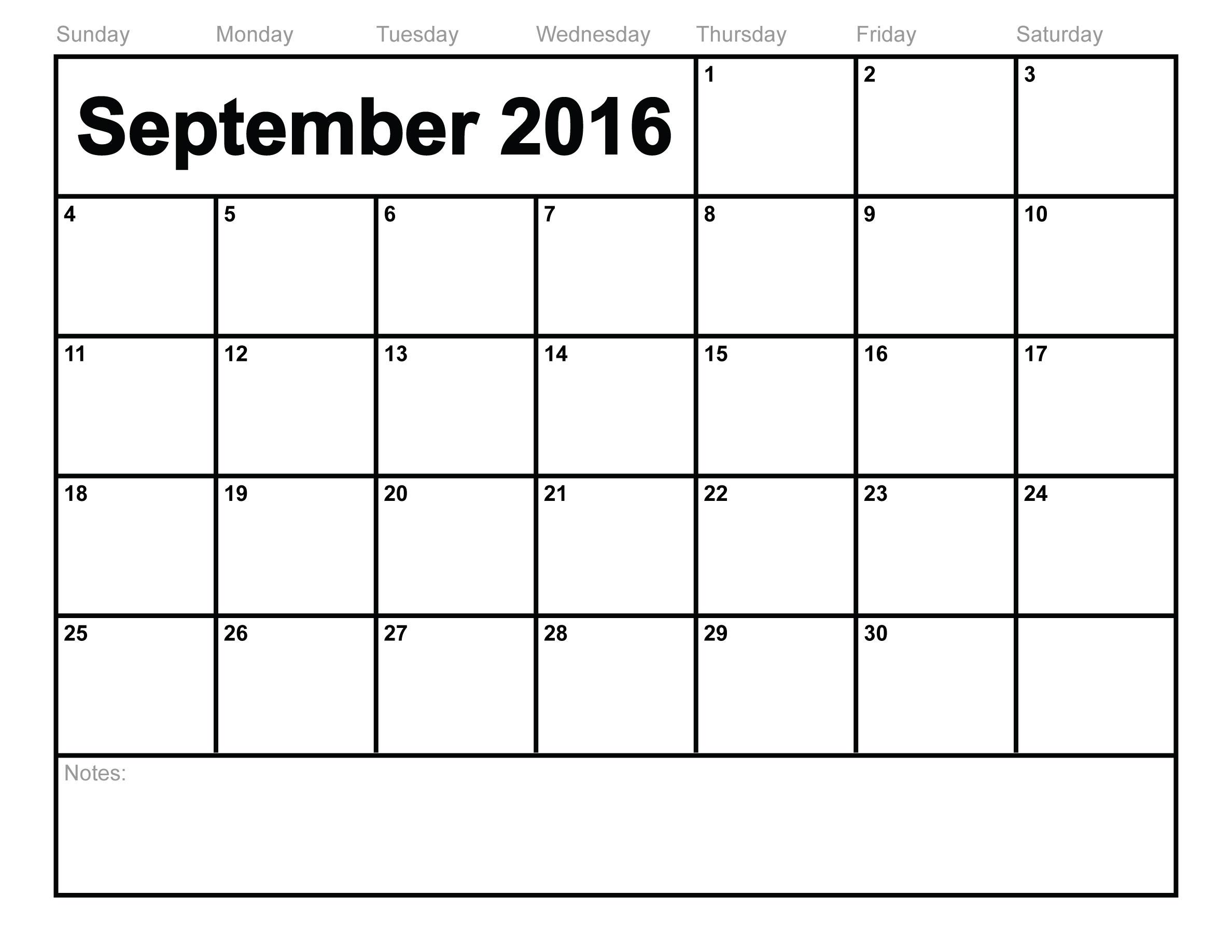 2016 Calendar South Africa.