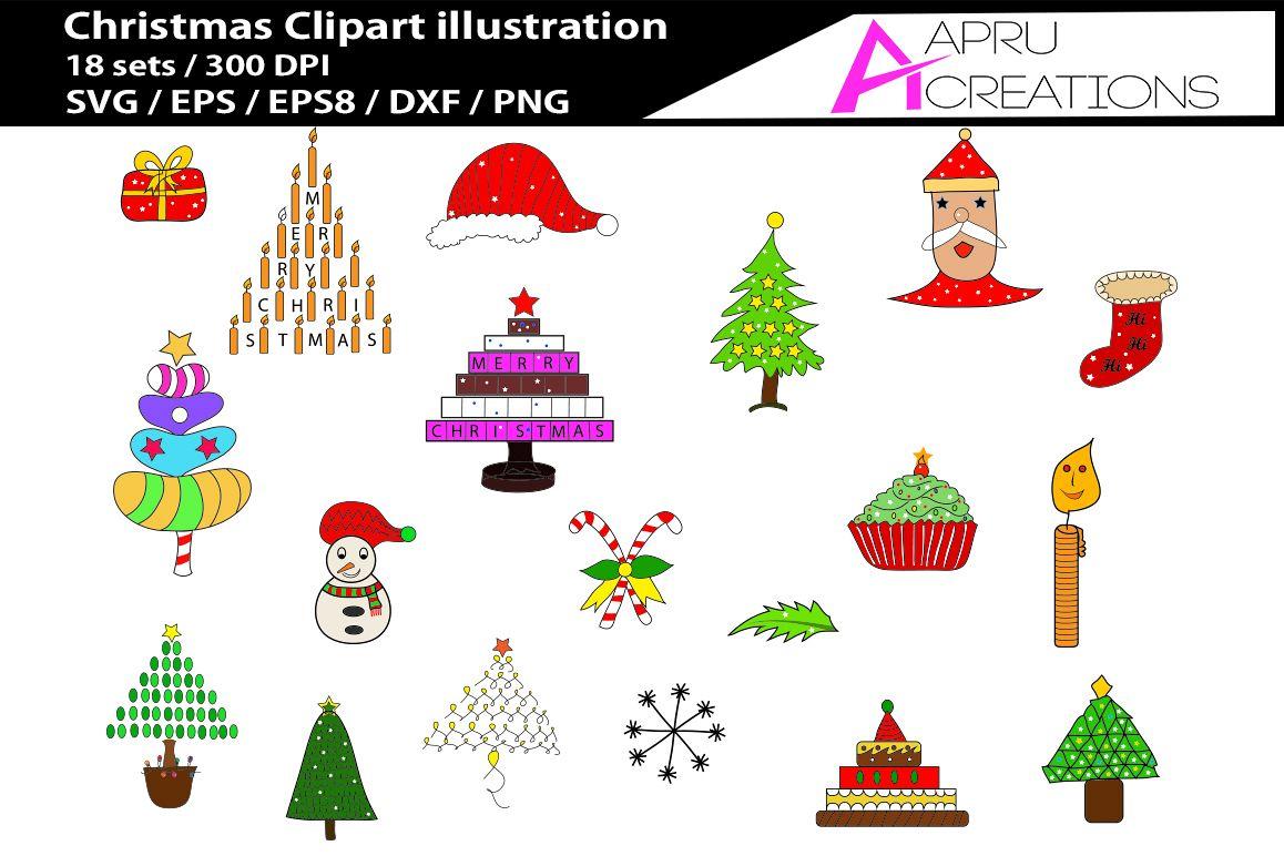 Christmas SVG clip art printable christmas clipart cut file christmas  silhouette.