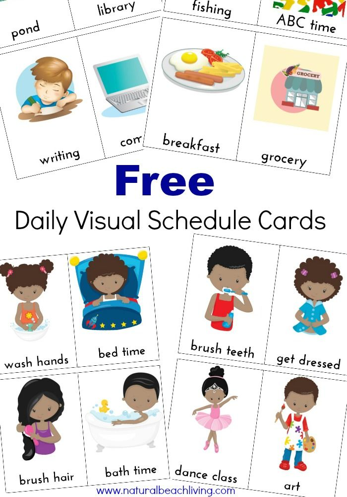 Printable Classroom Schedule Template Clipart on 4 Year Old Flash Cards