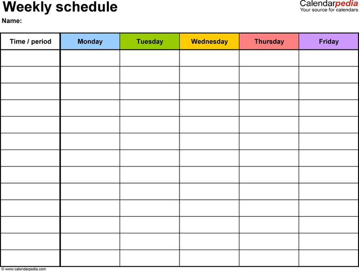 17 Best ideas about Schedule Templates on Pinterest.