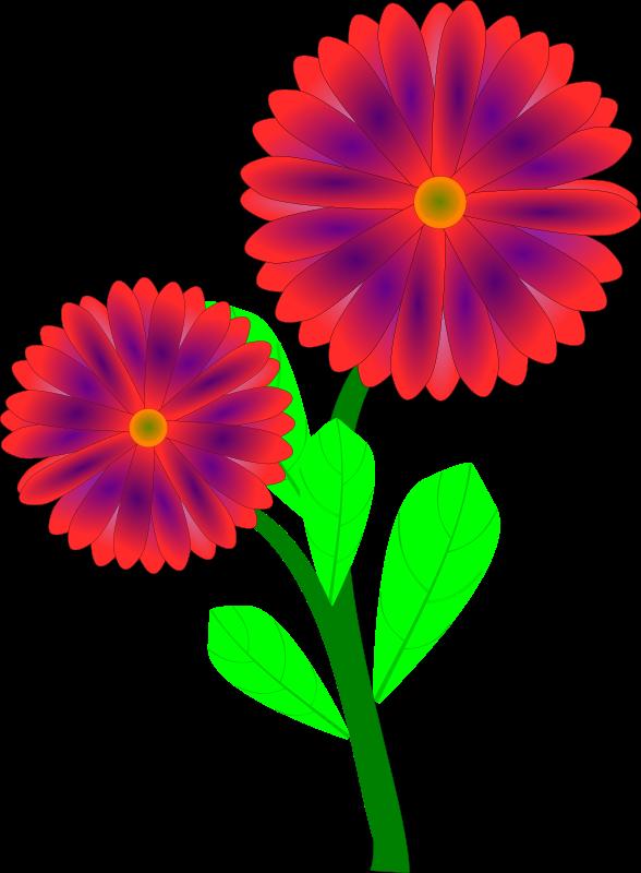 Spring flowers clip art free printable 5.