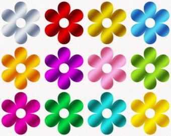 Spring flowers clip art free printable 2.