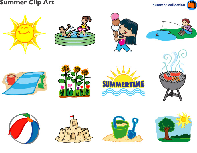 Summer Free Printable Clipart.
