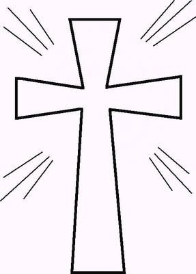Printable Cross Template.