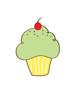 Free Cupcake Clipart Pictures and FREE printable cupcake wrappers.
