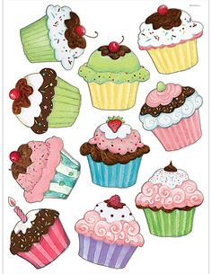 Cupcake Coloring Pages.