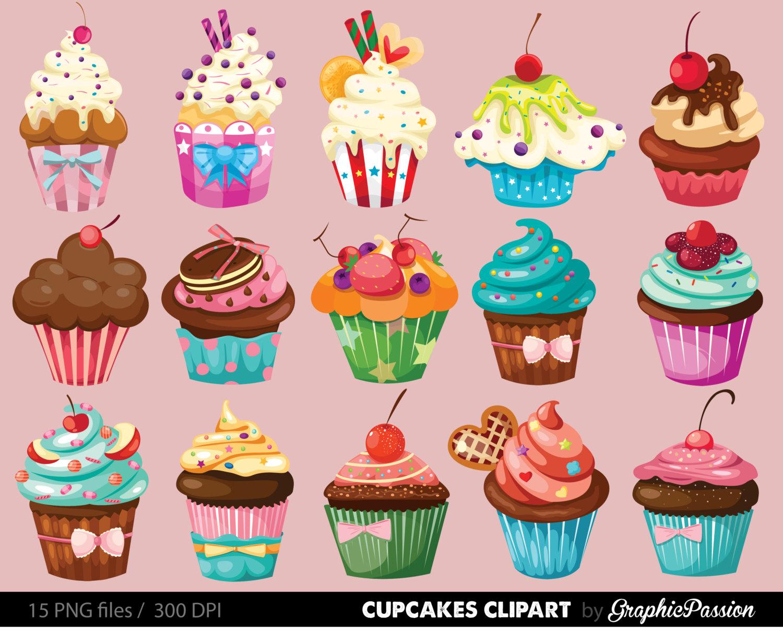 Cupcakes clipart digital cupcake clip art cupcake digital.