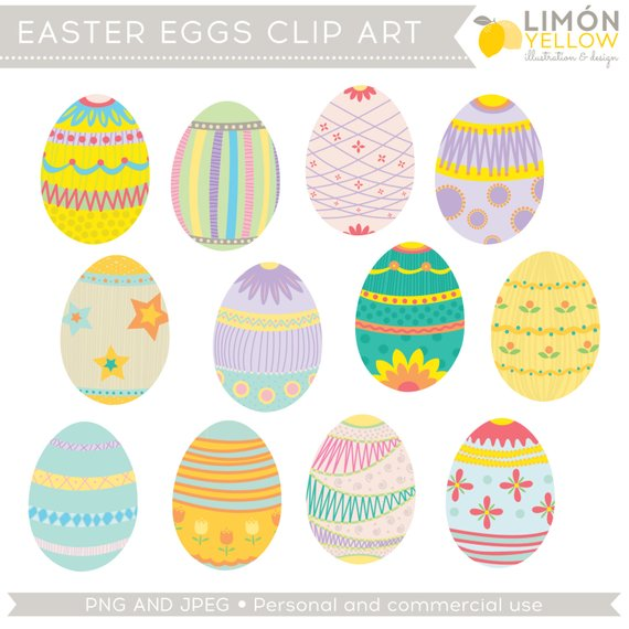 Easter Clipart, Easter Eggs Clip Art (Royalty Free) in 2019.