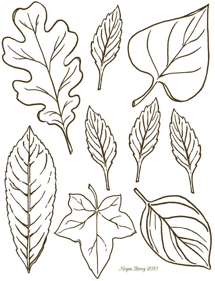 Autumn leaves ~ free printables & clip art.