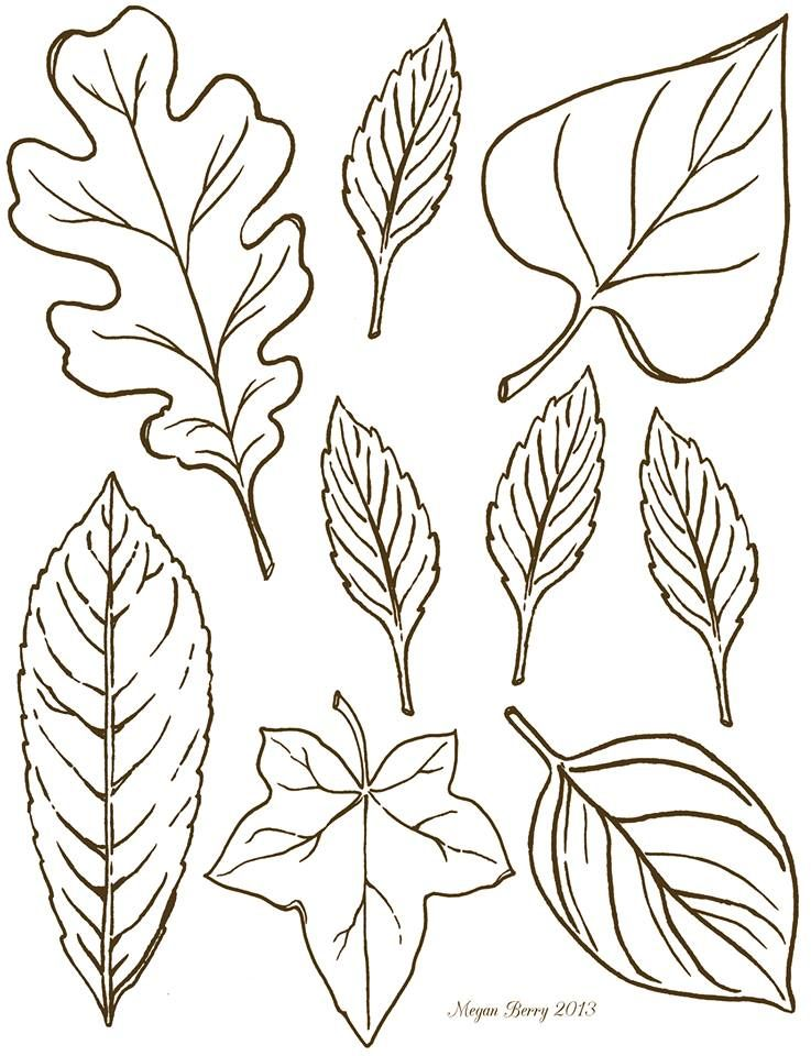 Autumn leaves ~ free printables & clip art.