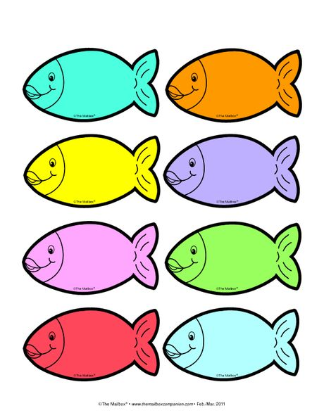 Colored fish templete.