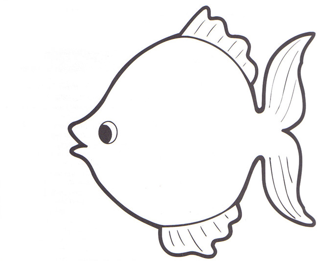 366 Fish Outline free clipart.