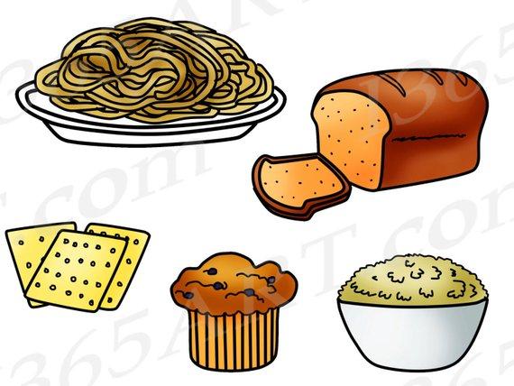 Grains Clipart, Grains Clip Art, Food Groups, Fiber, Bread.