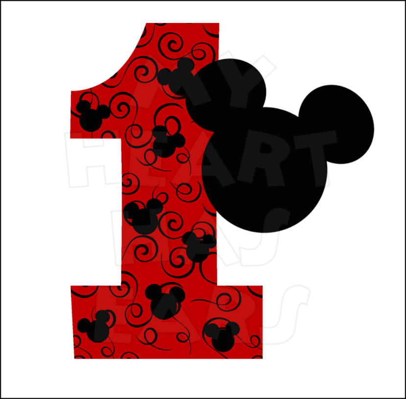 Printable Mickey Mouse Clipart.