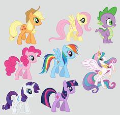 mi pequeño pony imagenes para tarjetas y stickers.