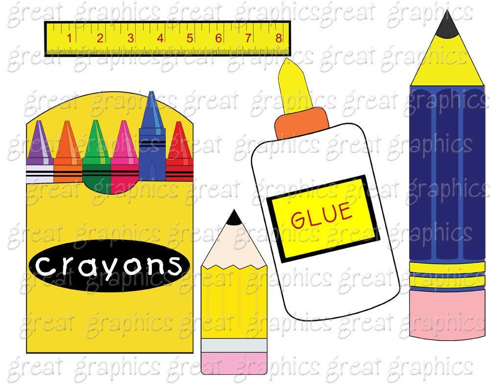 School Clipart Printable School Clip Art School Bus Crayon Clipart.