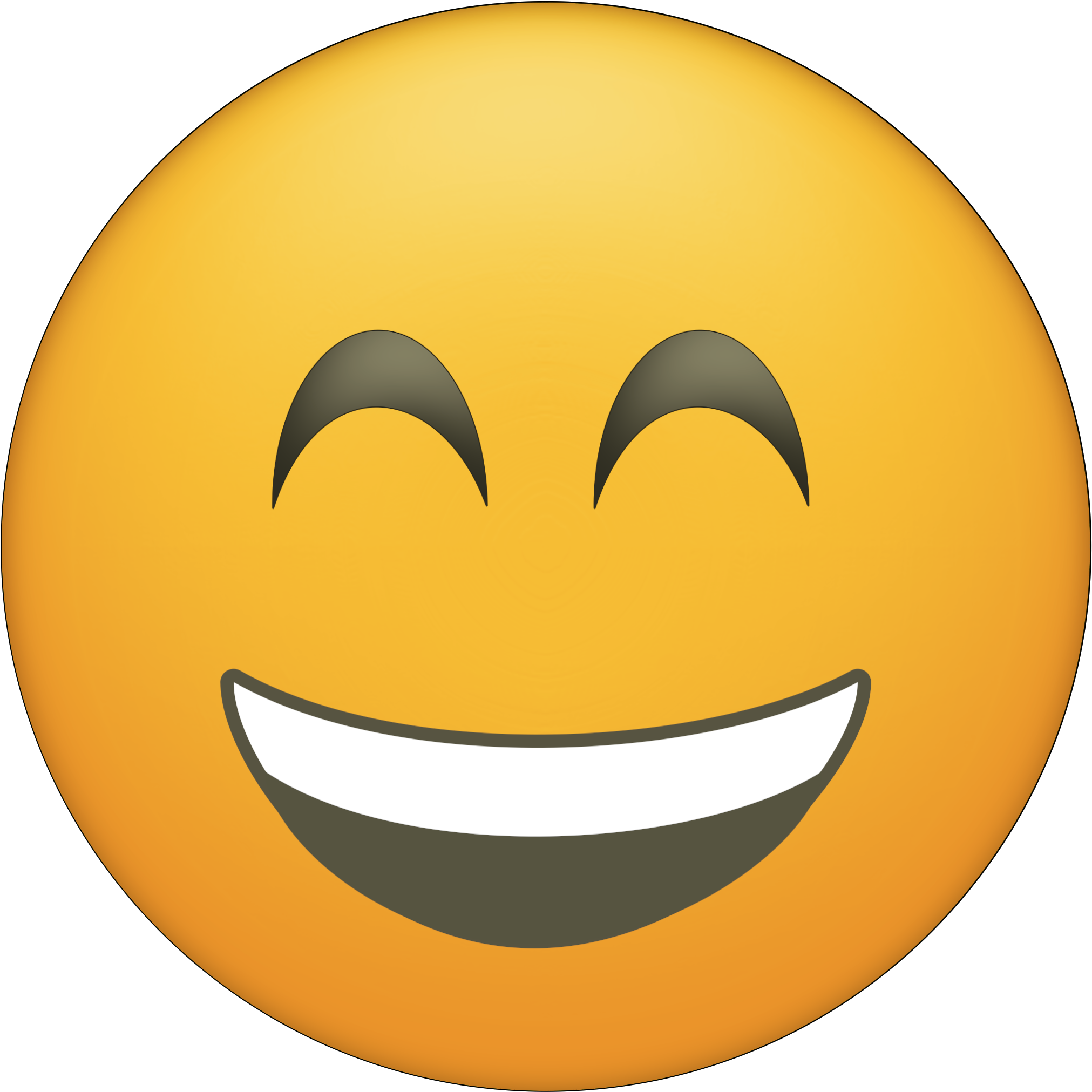 Blushing Happy Face Emoji Printable.