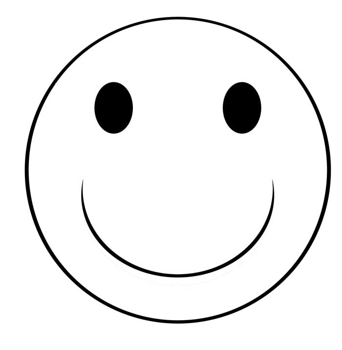 Black And White Happy Face Clipart.