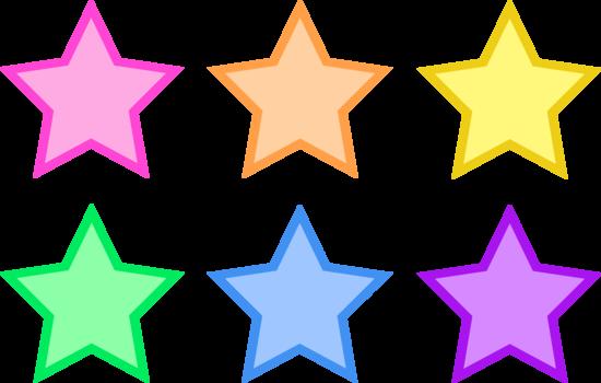Cute Pastel Colored Stars.