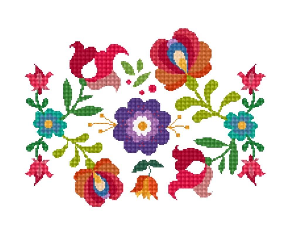 Summer Mexican Flowers Clip Art.