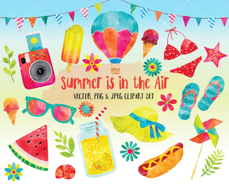 Cute Summer Clipart.
