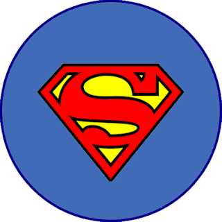 Superman Symbol, Toppers or Free Printable Candy Bar Labels.