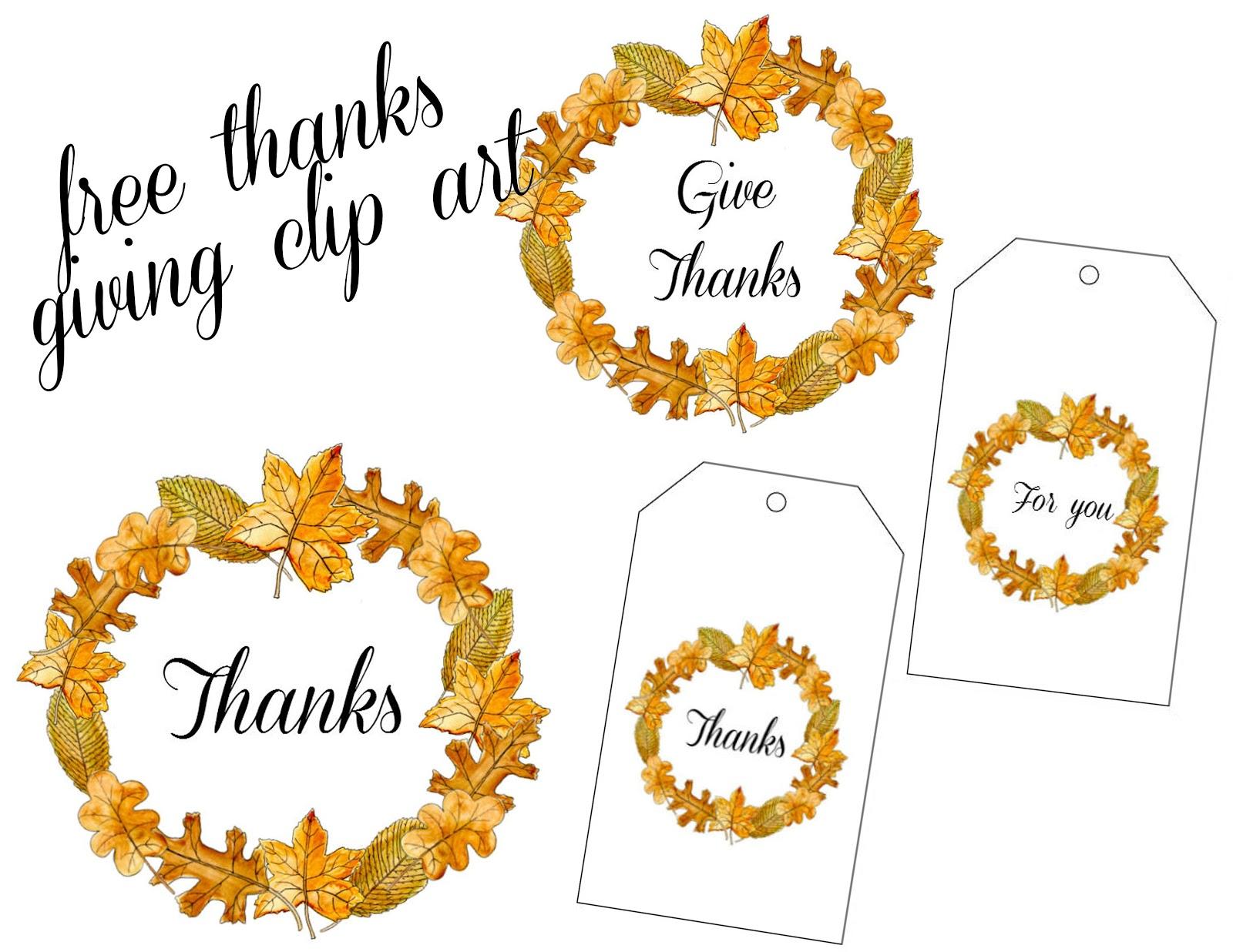 Free Printable Thanksgiving Clip Art free image.